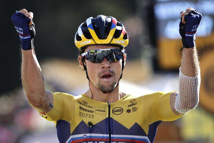 Tim Breukers had een topklassering in de door Primoz Roglic gewonnen etappe.
