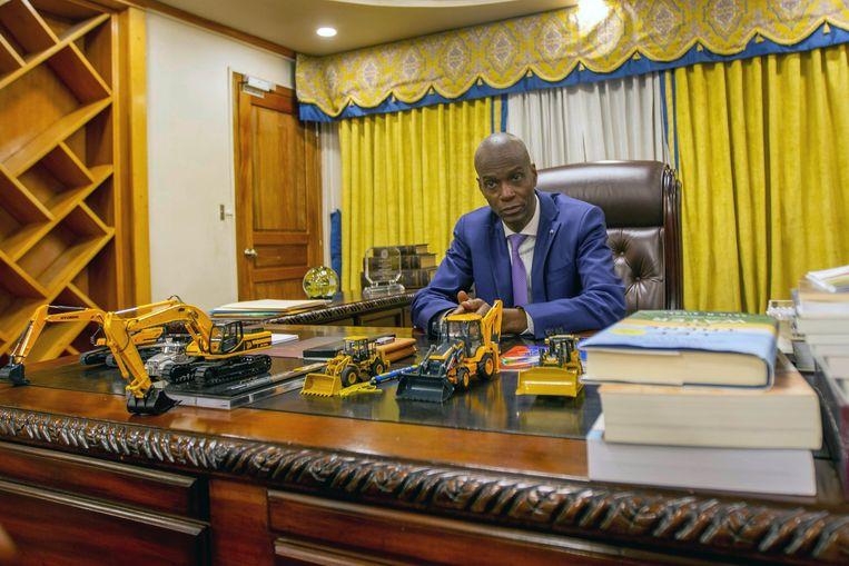 De afgelopen week doorgeschoten president Jovenel Moise.  Beeld Hollandse Hoogte / EPA