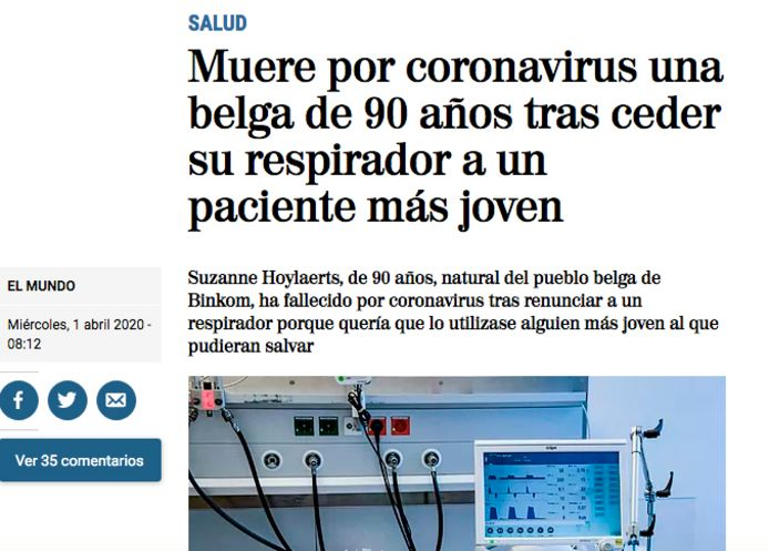 Het Spaanse El Mundo over Suzanne Hoylaerts