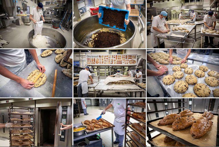 Om de donkere dagen van 2020 door te komen, maken de bakkers van Carl Siegers nu kerststollen.  Beeld Werry Crone