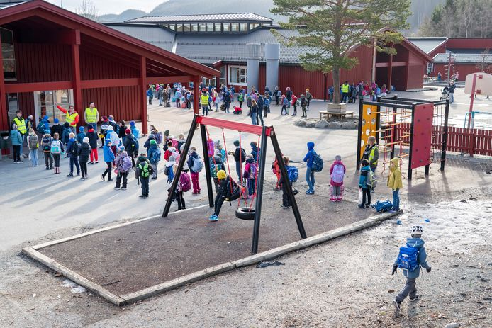 Une école à Trondheim, la principale ville de la région de Trøndelag