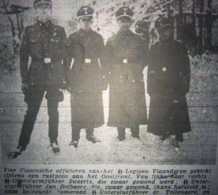 Tijdens WO II collaboreerde Sweerts (links) met de SS, naar eigen zeggen als 'infiltrant'. Beeld RV