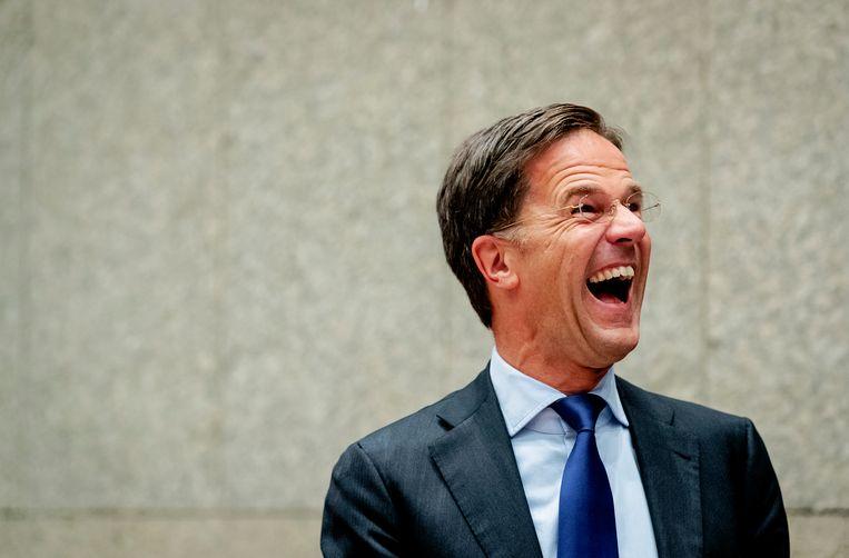 Mark Rutte tijdens de tweede dag van de Algemene Politieke Beschouwingen.  Beeld Hollandse Hoogte /  ANP