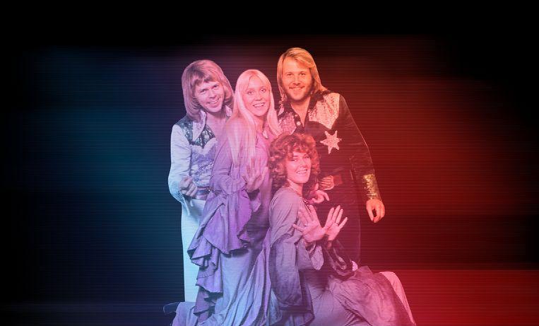 In 1976 waren Björn Ulvaeus, Agnetha Fältskog, Benny Andersson en Anni-Frid Lyngstad wereldsterren.  Beeld BELGAIMAGE