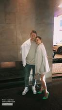 Kevin De Bruyne et sa femme Michèle à Amsterdam