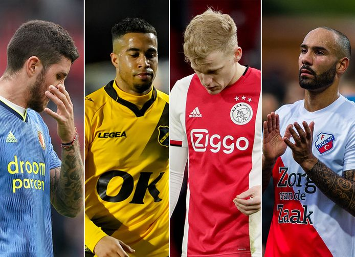 Vlnr: Marco Senesi, Pele van Anholt, Donny van de Beek en Sean Klaiber.