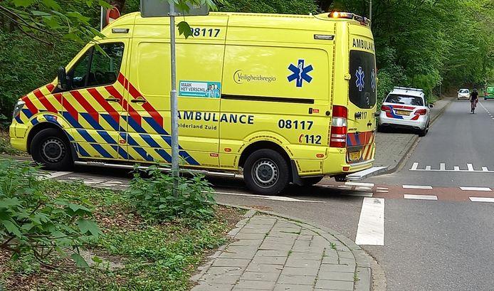 De hulpdiensten ter plaatse na het ongeluk in Beek.