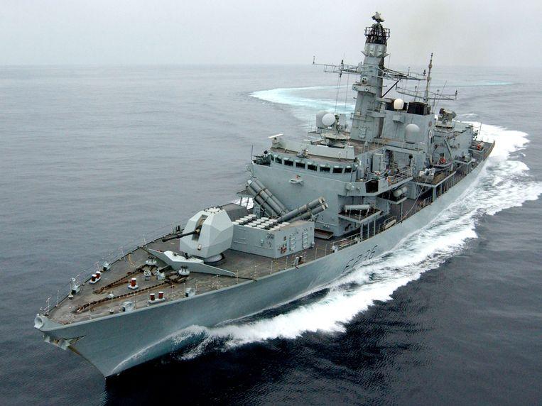 De HMS Montrose zou zijn wapens op de Iraanse schepen gericht hebben als waarschuwing.