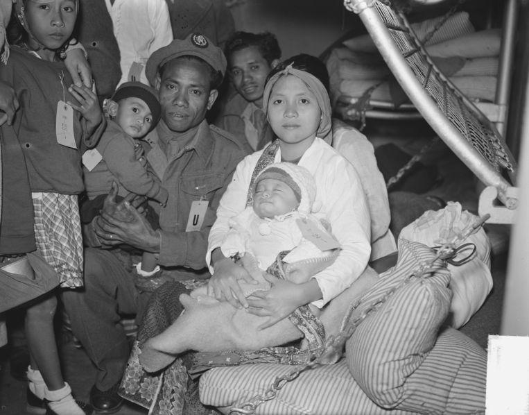 In 1951 kwamen zo'n 12.500 Knil-militairen met hun gezinnen naar Nederland. Beeld Nationaal Archief