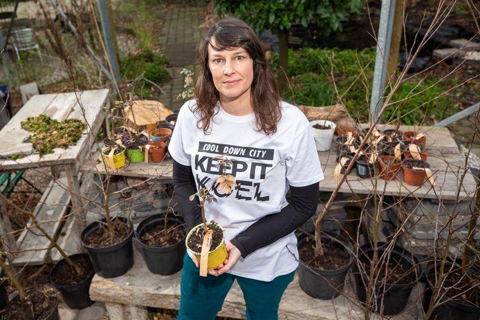 Charlotte van der Heiden, oprichtster van Cool Down City: ,,Veel Rotterdammers krijgen in de gaten dat het zomers wel erg warm kan worden in de stad.''