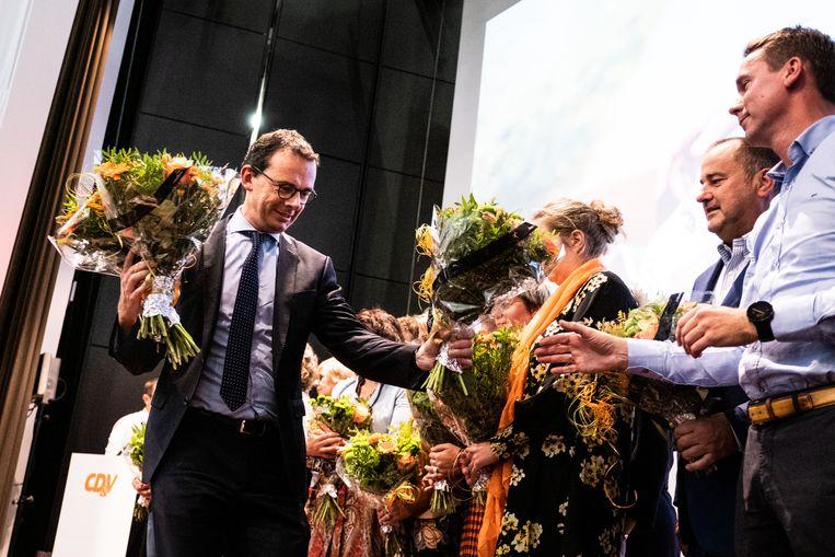 Wouter Beke leidde vorige week zijn laatste partijcongres als voorzitter. Beeld Wouter Maeckelberghe
