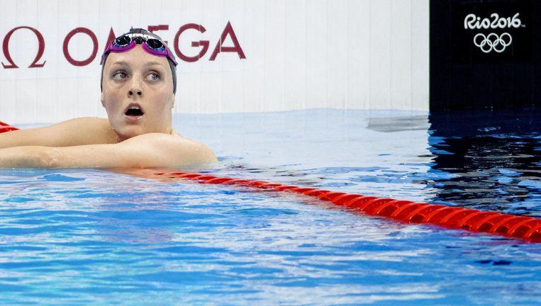 Marrit Steenbergen in het Olympisch zwembad in Rio Beeld anp