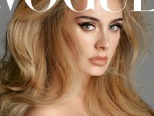 Adele straalt in sexy jurk op historische Vogue-cover