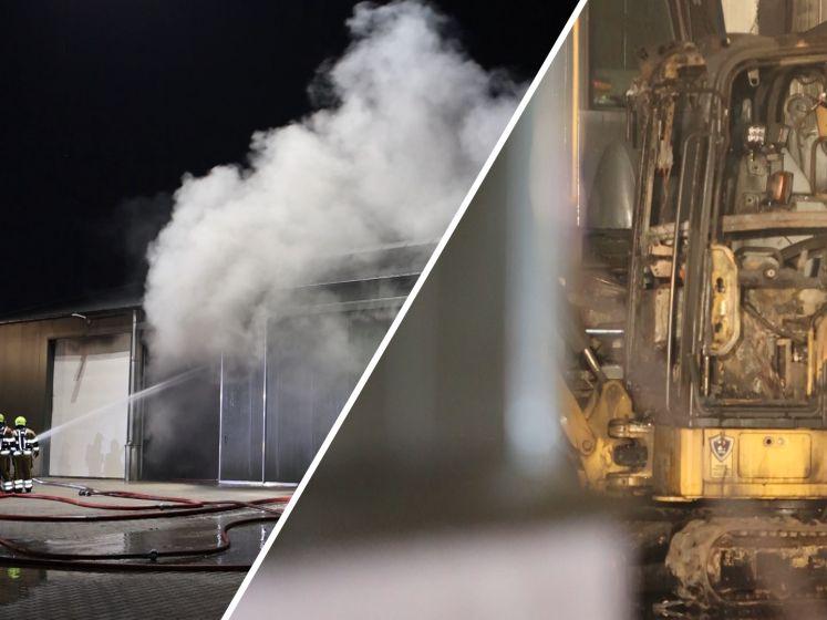 Veel schade bij brand in schuur met landbouwvoertuigen in Velddriel