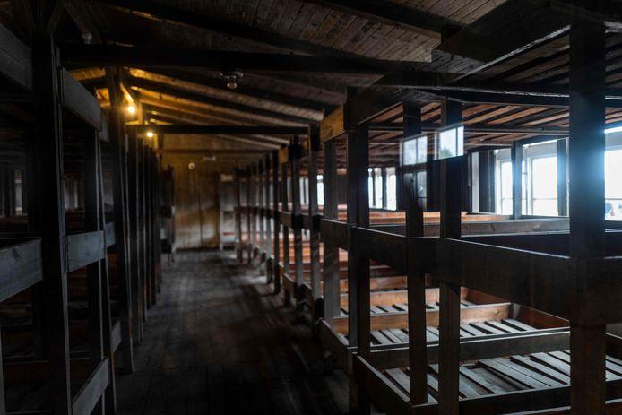 I dormitori dell'ex campo di concentramento di Sachsenhausen.