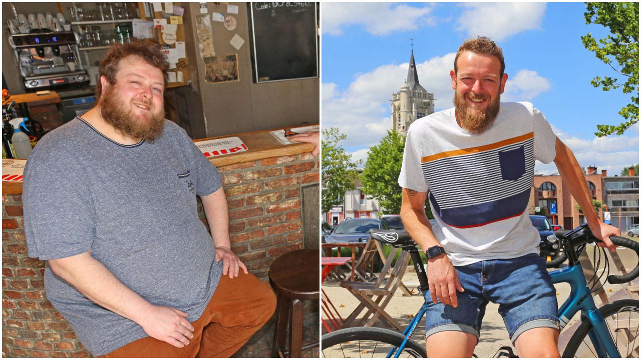 Timo Schoukens vroeger en vandaag, een verschil van 110 kilogram