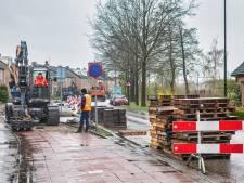 De Liesbosweg in Etten-Leur ligt nu nog flink overhoop maar is straks weer een plaatje
