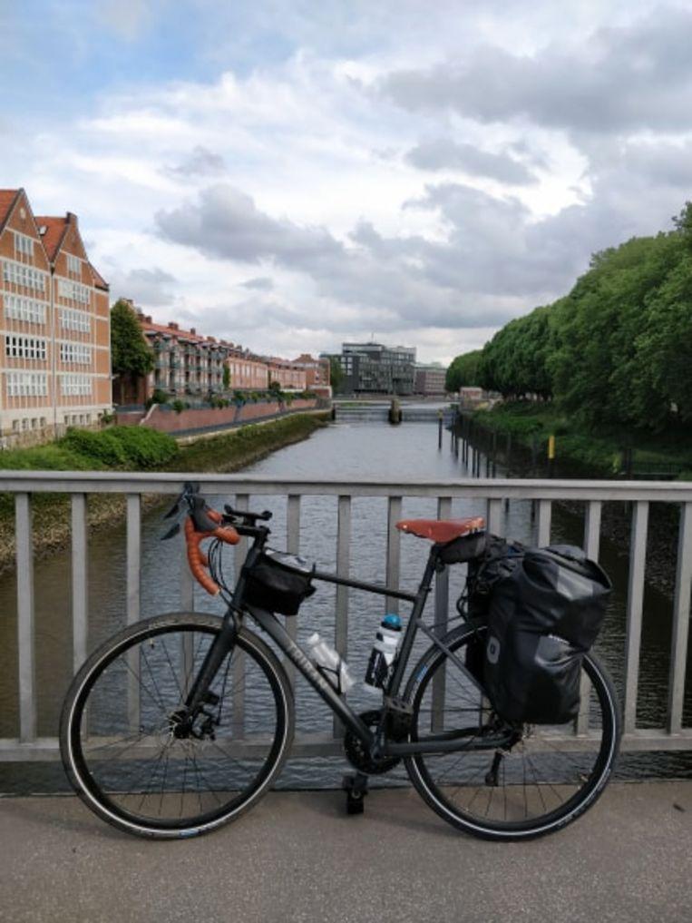 De fiets die hem naar Helsinki bracht