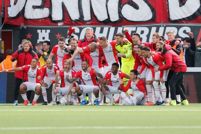 De spelers van FC Emmen zitten in een positieve flow.