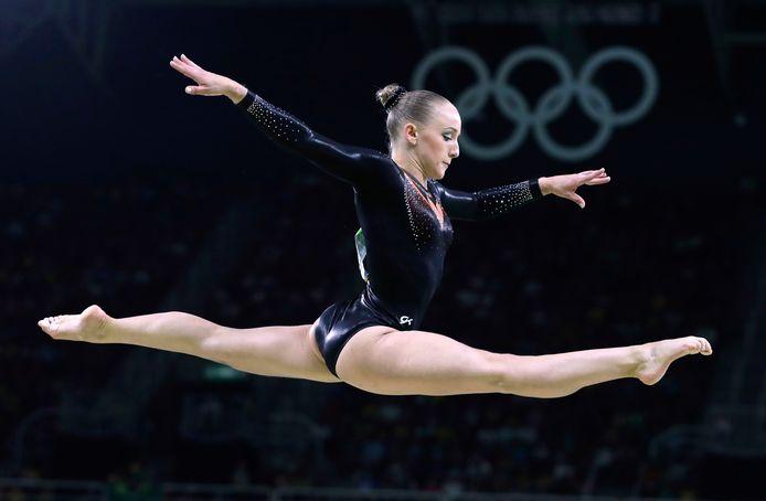 Sanne Wevers tijdens de Olympische Spelen in Rio in 2016.