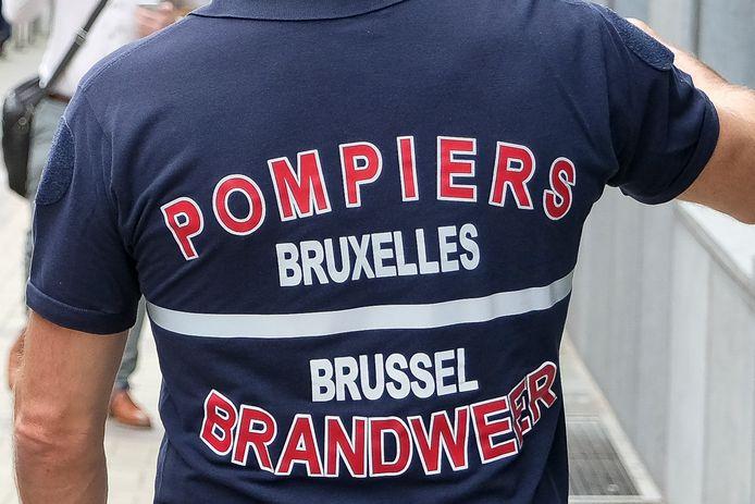 Foto ter illustratie van de Brusselse brandweer.