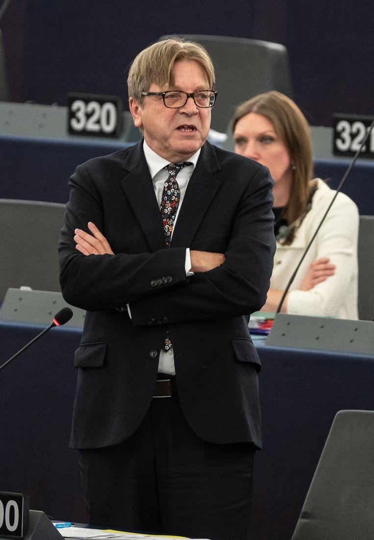 Guy Verhofstadt was in 2015 en 2016 voorzitter van de denktank Berggruen. Beeld EPA