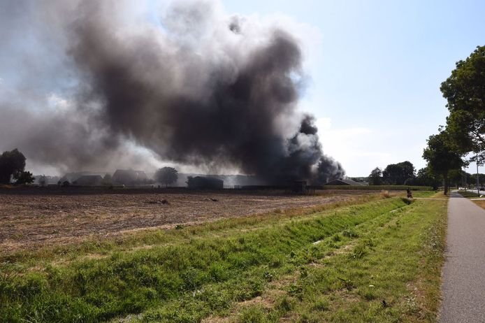 Grote brand in Didam.