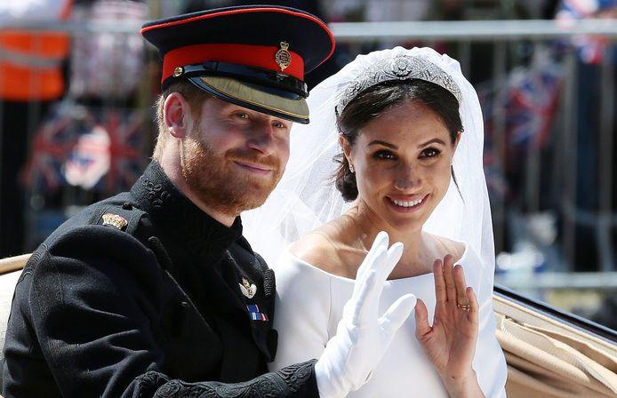 Le 18 mai 2018, le jour de leur mariage.