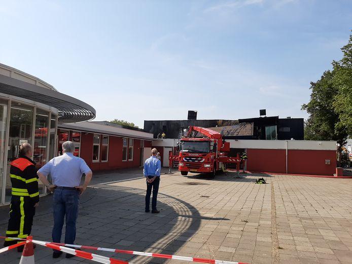 Nablussen en opruimen in bedrijfsverzamelgebouw in Tilburg.