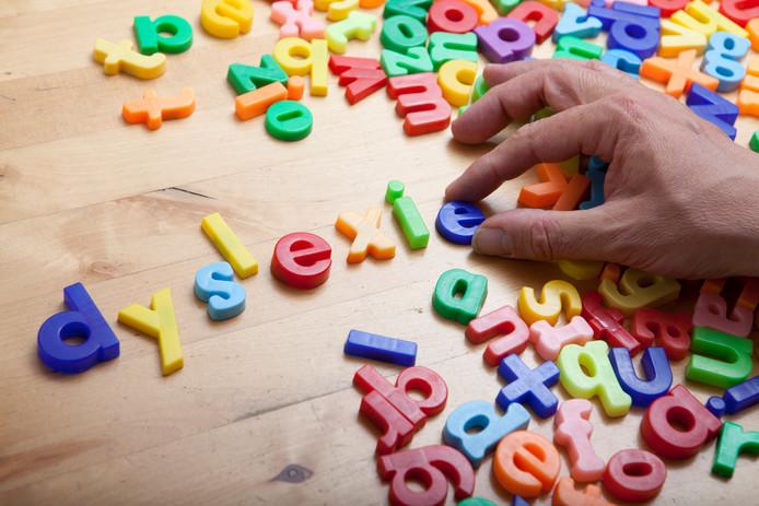 Illustratie rond het thema dyslexie
