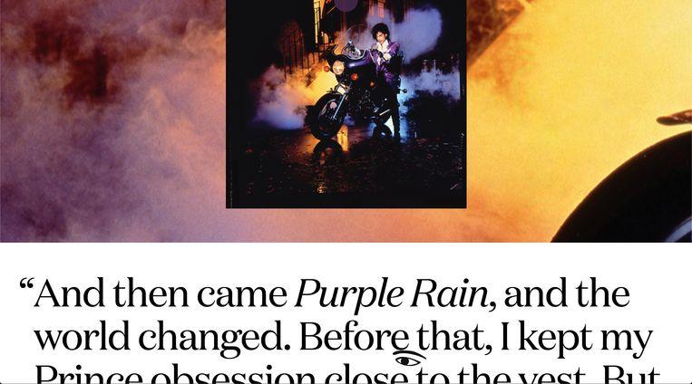 Screenshot uit de discografie van Prince, ontworpen door Base Design. Beeld RV The Prince Estate