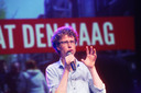 PvdA-fractieleider Martijn Balster tijdens het lijsttrekkersdebat begin juni.