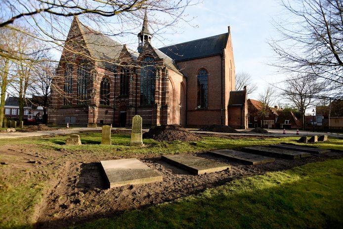 De Grote of Catharijnekerk in de vesting Heusden.