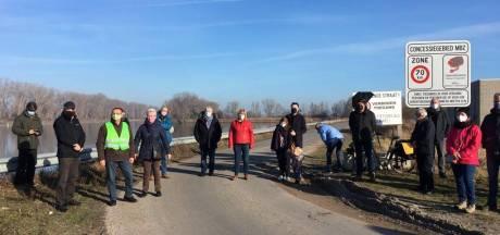 Ook protest tegen betonbedrijf Top-Mix, dat wil bouwen nabij Dudzele, krijgt een gezicht