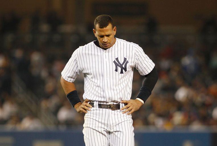 Yankees-ster Alex Rodriguez, bijgenaamd A-Rod, zou figureren in een groot dopingschandaal. Beeld getty