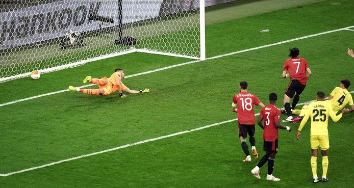Kort na de rust maakte Cavani er nog 1-1 van.