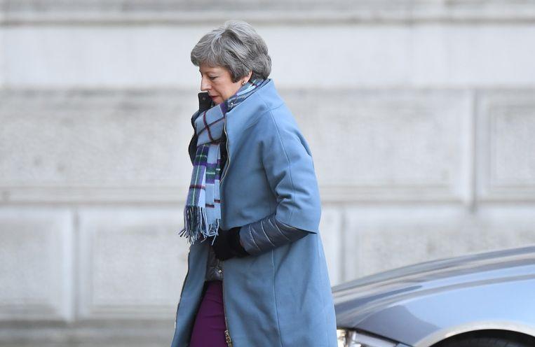 De Britse premier Theresa May. Beeld EPA