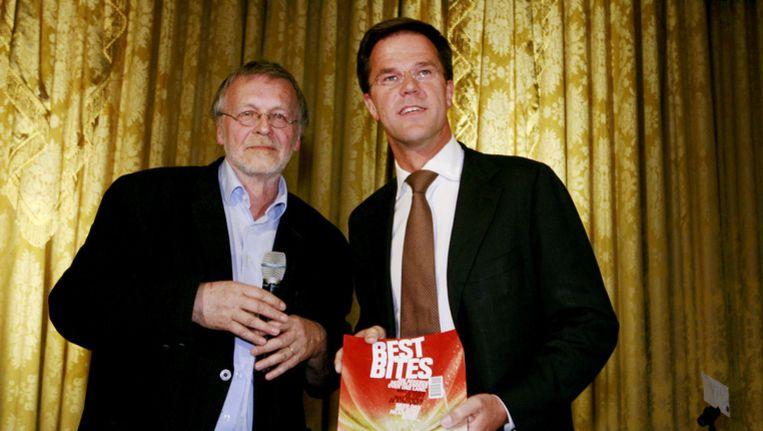 Van Vuure in 2010 met Mark Rutte. Beeld ANP