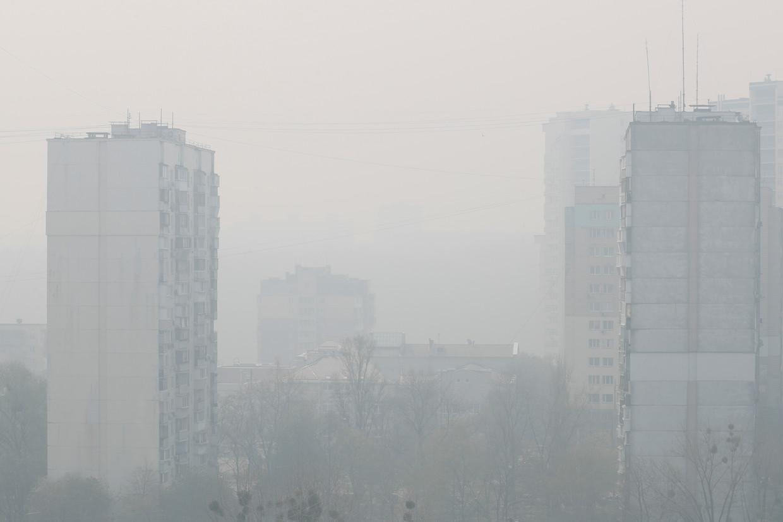 Vorige week vrijdag was de smog in Kiev zo dik dat de stad even de slechtste luchtkwaliteit ter wereld had.