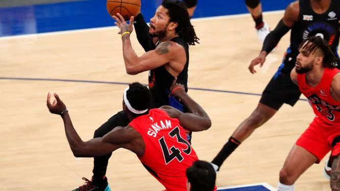 Knicks zetten straffe reeks voort tegen Raptors, leider Utah Jazz verliest verrassend