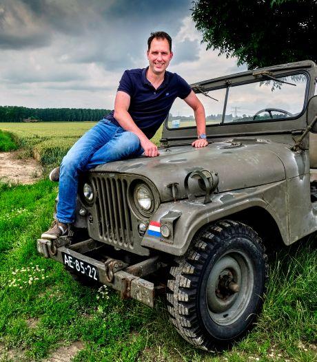 De Jeep van Floris (40) reed in het leger: 'Met snorkel kan-ie onderwater, maar dat durf ik niet aan'