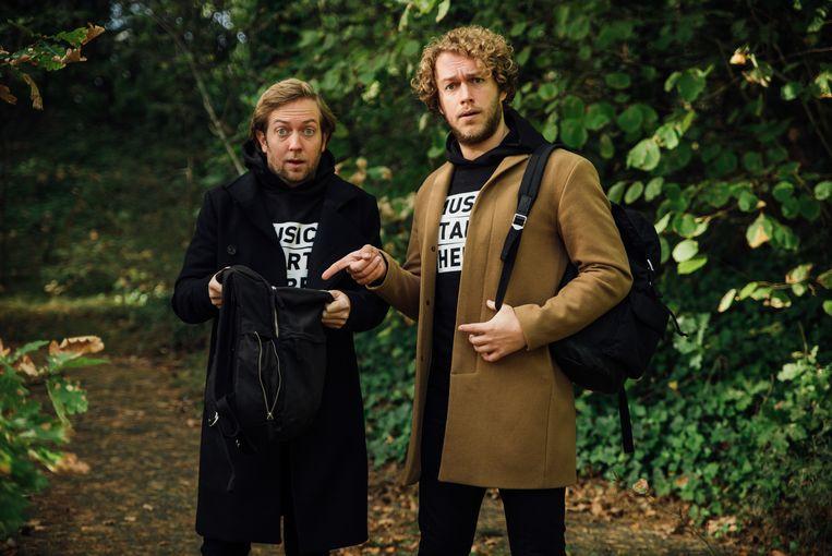 Rámon Verkoeijen (links) en Mark van der Molen. Beeld NPO 3FM