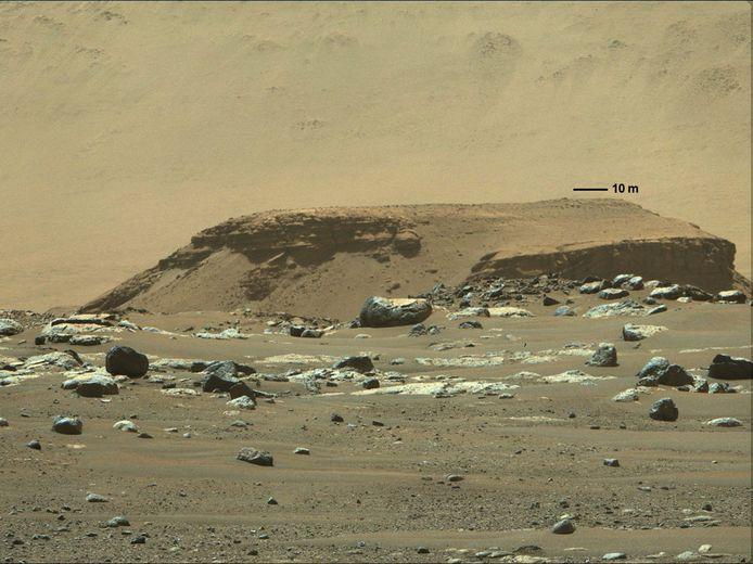 Een beeld van Mars dat rover Perseverance eerder deze maand naar huis stuurde.