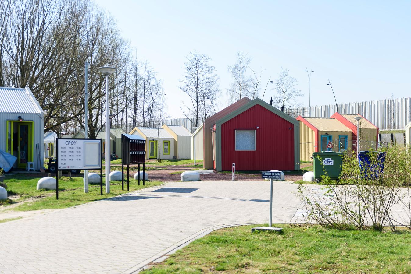 De Skaeve Huse, aan de rand van de wijk Genderbeemd in Eindhoven.
