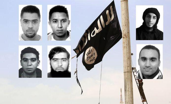 Les six djihadistes en question.