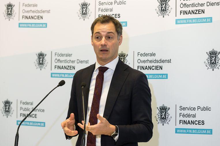 Minister van Financiën Alexander De Croo. Beeld BELGA
