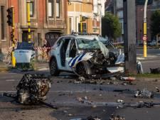 Twee agenten even in levensgevaar na zwaar ongeval met politiewagen op weg naar rellen in Gentse Overpoortstraat