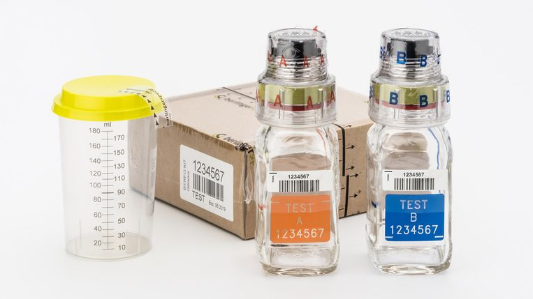 De antidoping BEREG-KIT van Berlinger. Beeld Berlinger