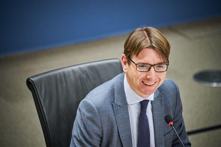 Steven van Weyenberg (D66) is de nieuwe staatssecretaris van Infrastructuur en Waterstaat. Beeld Hollandse Hoogte /  ANP