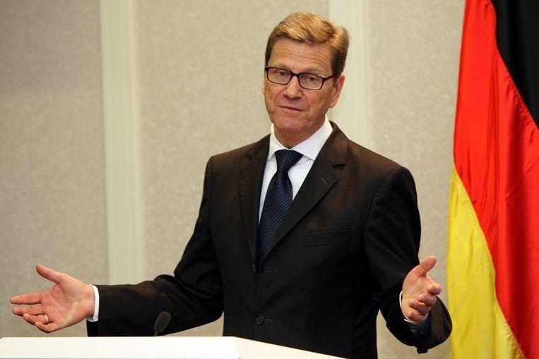 De Duitse minister van Buitenlandse Zaken Guide Westerwelle Beeld epa